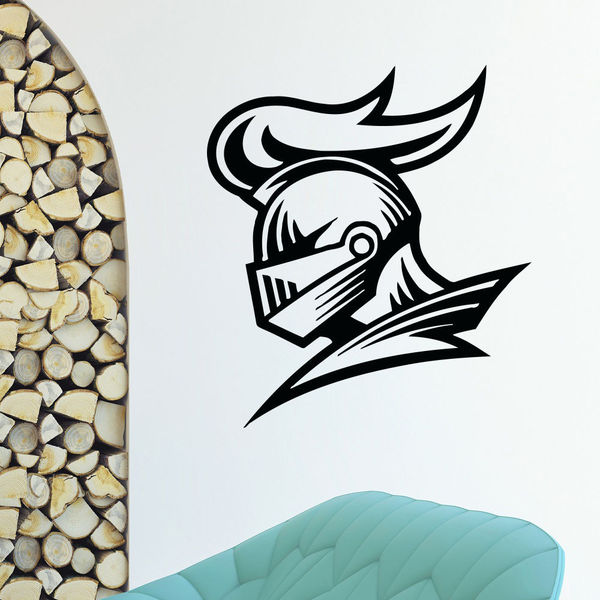 Knight Helmet Vinyl Wall Art Decal Sticker