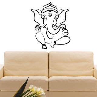 Dancing Ganesha Vinyl Wall Art Decal Sticker