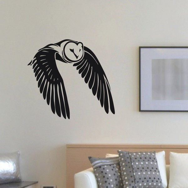 shop flying owl vinyl wall art decal sticker free shipping on