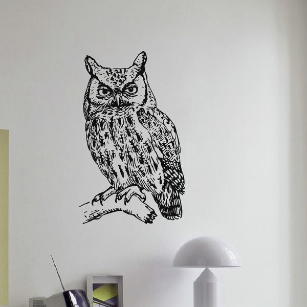 Owl Wall Art Decal Sticker