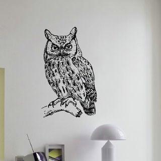 Owl Wall Art Decal Sticker