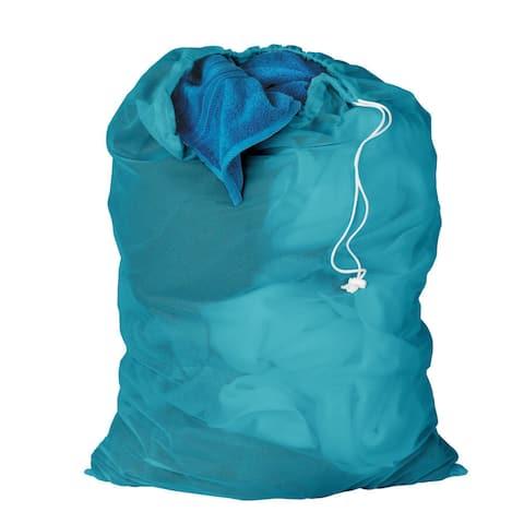 Honey Can Do Ocean Blue Mesh Laundry Bag 2-pack