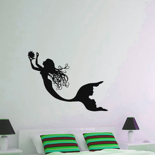 Mermaid and sea shell Vinyl Wall Art Decal Sticker