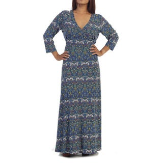 Ella Samani's Plus Size Blue Tribal Maxi