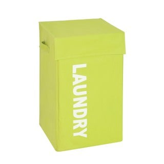 Honey-Can-Do HMP-04060 Lime Graphic Hamper with Lid