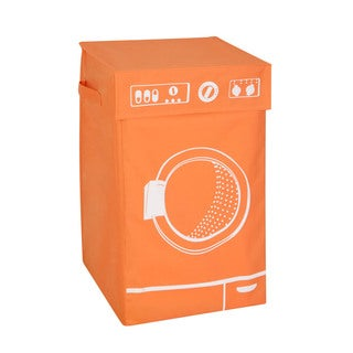 Honey Can Do Orange Graphic Washing Hamper