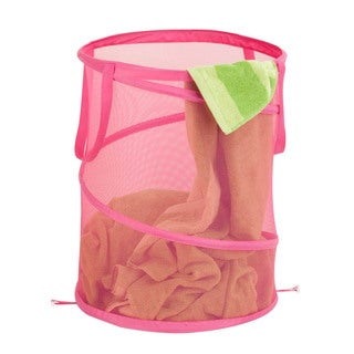 Honey Can Do Large Pink Mesh Pop Open Hamper