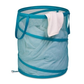 Honey Can Do Ocean Blue Large Mesh Pop Open Hamper