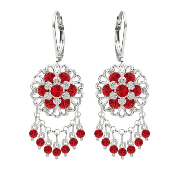 Shop lucia costin silver red crystal chandelier earrings free lucia costin silver red crystal chandelier earrings aloadofball Image collections
