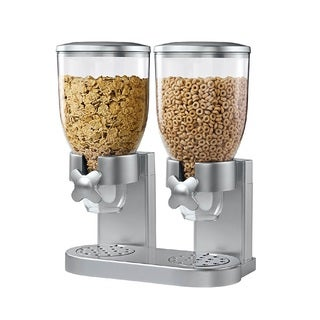 Honey-Can-Do Zevro Original Indispensable Double Dispenser, Gray
