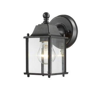 Z-Lite Waterdown Black 1 Light Outdoor Wall Light