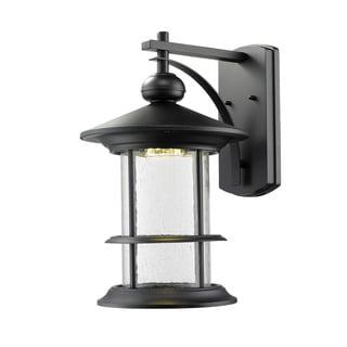 Z-Lite Genesis Black Outdoor LED Wall Light