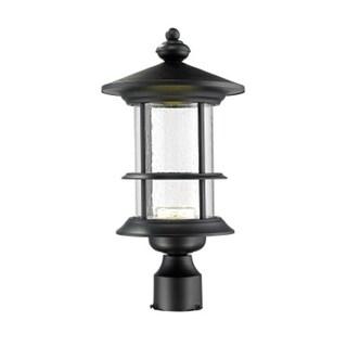Z-Lite Genesis Black Outdoor LED Post Light