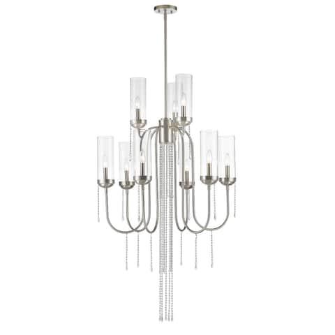 Avery Home Lighting Siena 9-lights Brushed Nickel Chandelier