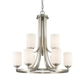 Avery Home Lighting Bordeaux 9-lights Brushed Nickel Chandelier