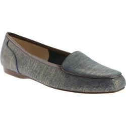 Women's Bandolino Liberty Flat Dark Blue/Taupe Fabric