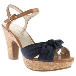 Women's Bandolino Maromisa Sandal Navy/Light Brown Fabric