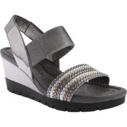 Women's Bandolino Mateja Wedge Sandal Dark Grey Multi Synthetic