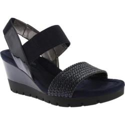 Women's Bandolino Mateja Wedge Sandal Navy Multi Synthetic