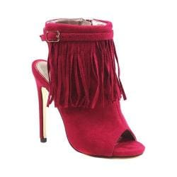 Women's Luichiny Happy One Open Toe Bootie Fuchsia Imi Suede