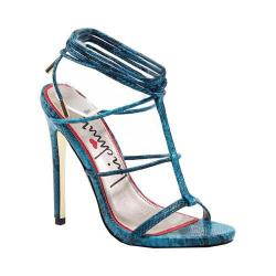 Women's Luichiny Her Story Sandal Teal Snake Imi Leather