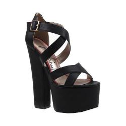 Women's Luichiny Jaw Dropper Platform Sandal Black Imi Leather