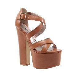 Women's Luichiny Jaw Dropper Platform Sandal Tan Imi Leather