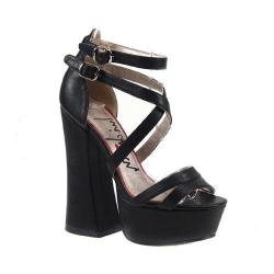 Women's Luichiny Tall Order Platform Sandal Black Imi Leather