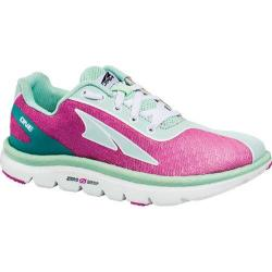 Children's Altra Footwear One Junior Running Shoe Fuchsia/Mint