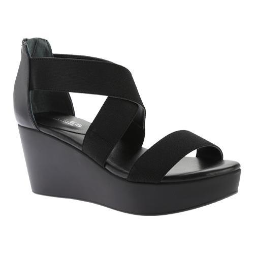 219011f3604d Shop Women s Charles by Charles David Joey Wedge Sandal Black Elastic Smooth  - Free Shipping Today - Overstock - 11779139