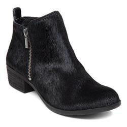 Women's Lucky Brand Basel Bootie Black Cow Hair Leather