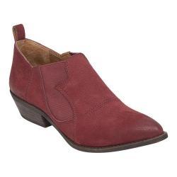 Women's Lucky Brand Joelle Bootie Dark Red Nubuck Leather
