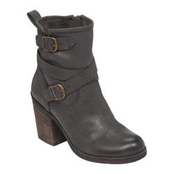 Women's Lucky Brand Orenzo Chunky Heel Boot Black Leather