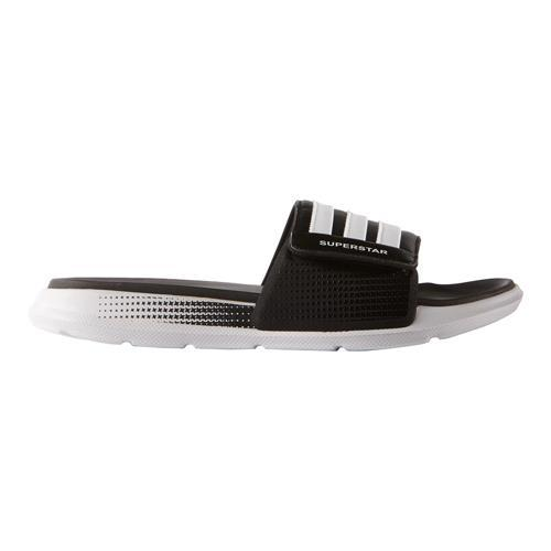 96c7ad2f448f Shop Men s adidas Superstar 4G Slide Black White Black - Free ...