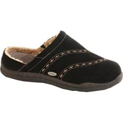 Women's Acorn Wearabout Beaded Clog With Firmcore Black Suede