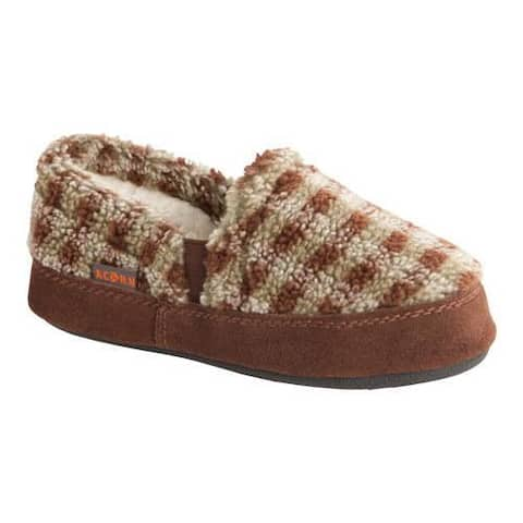 Children's Acorn Colby Gore Moc Brown Check Textured