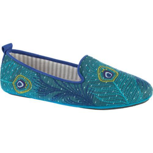 Shop women 39 s acorn novella peacock cotton free shipping today 11783988 for Womens bedroom slippers arch support