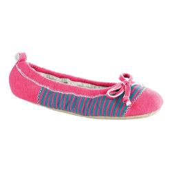 Women's Acorn Easy Spa Ballet Pink Stripe