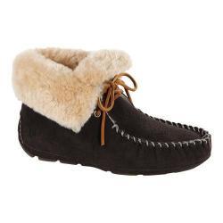 Women's Acorn Sheepskin Moxie Boot Black Suede