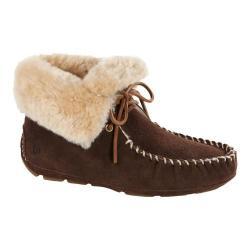Women's Acorn Sheepskin Moxie Boot Dark Chocolate Suede
