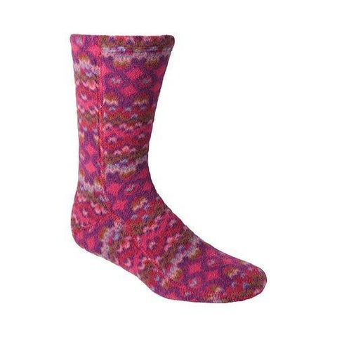 Acorn Versa Fit Socks Magenta Cable Fleece