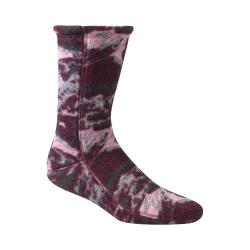 Women's Acorn Versa Fit Socks Katahdin Camo Wine Fleece