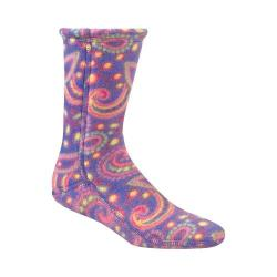 Women's Acorn Versa Fit Socks Rainbow Paisley Fleece