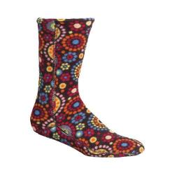 Women's Acorn Versa Fit Socks Chocolate Dots Fleece