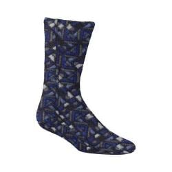 Acorn Versa Fit Socks Navy Woodblock Fleece