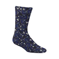 Acorn Versa Fit Socks Navy Woodblock Fleece (3 options available)