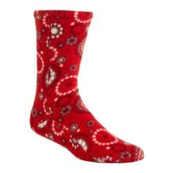 Acorn Versa Fit Socks Red Dots Fleece