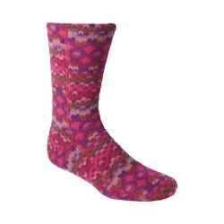 Acorn Versa Fit Socks Magenta Cable Fleece