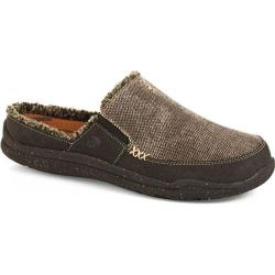 Men's Acorn Wearabout Slide With Firmcore Stonewash Black Canvas