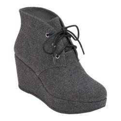 Women's BCBGeneration Kenan Wedge Bootie Smoke Felt